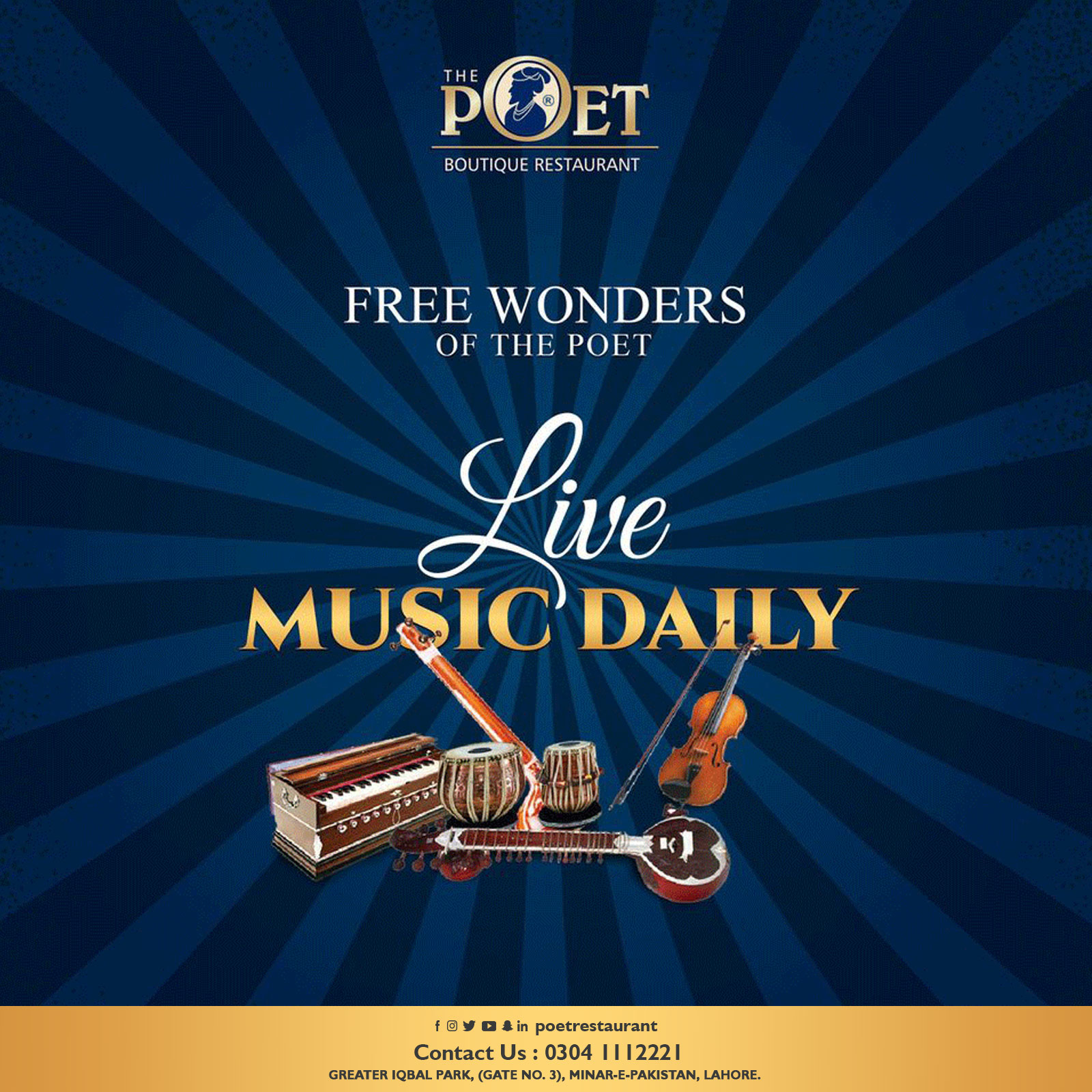 Live Music Daily at The Poet Restaurant