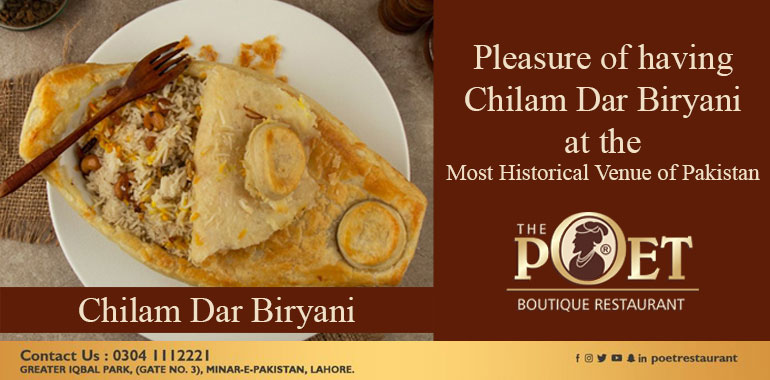 Chilam Dar Birtyani The Poet Restaurant Lahore